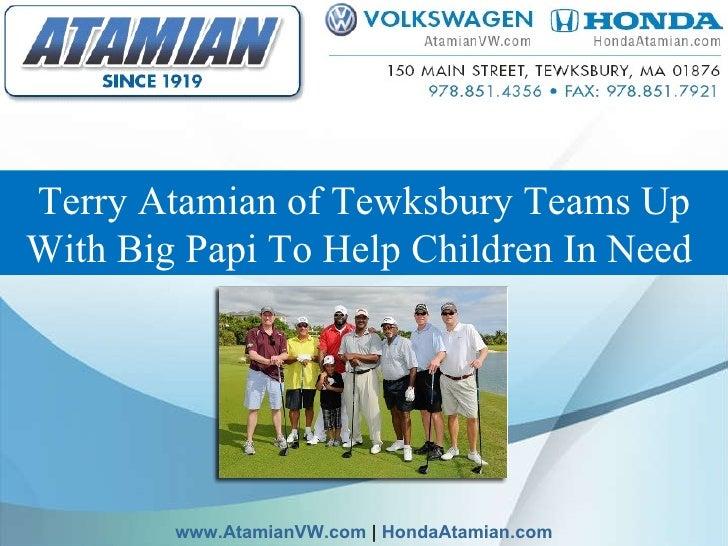 TerryAtamian ofTewksburyTeams Up With Big Papi To Help Children In Need  www.AtamianVW.com  |  HondaAtamian.com