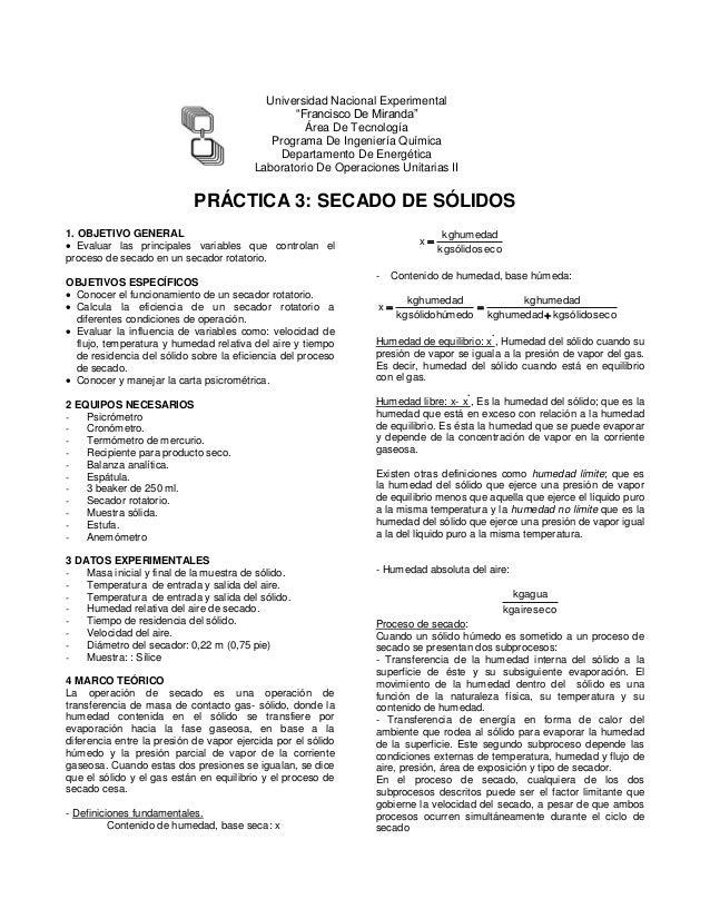 """Universidad Nacional Experimental """"Francisco De Miranda"""" Área De Tecnología Programa De Ingeniería Química Departamento De..."""