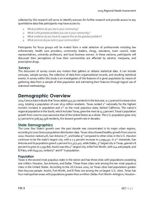 PRC Region 8 2015 Regional Needs Assessment