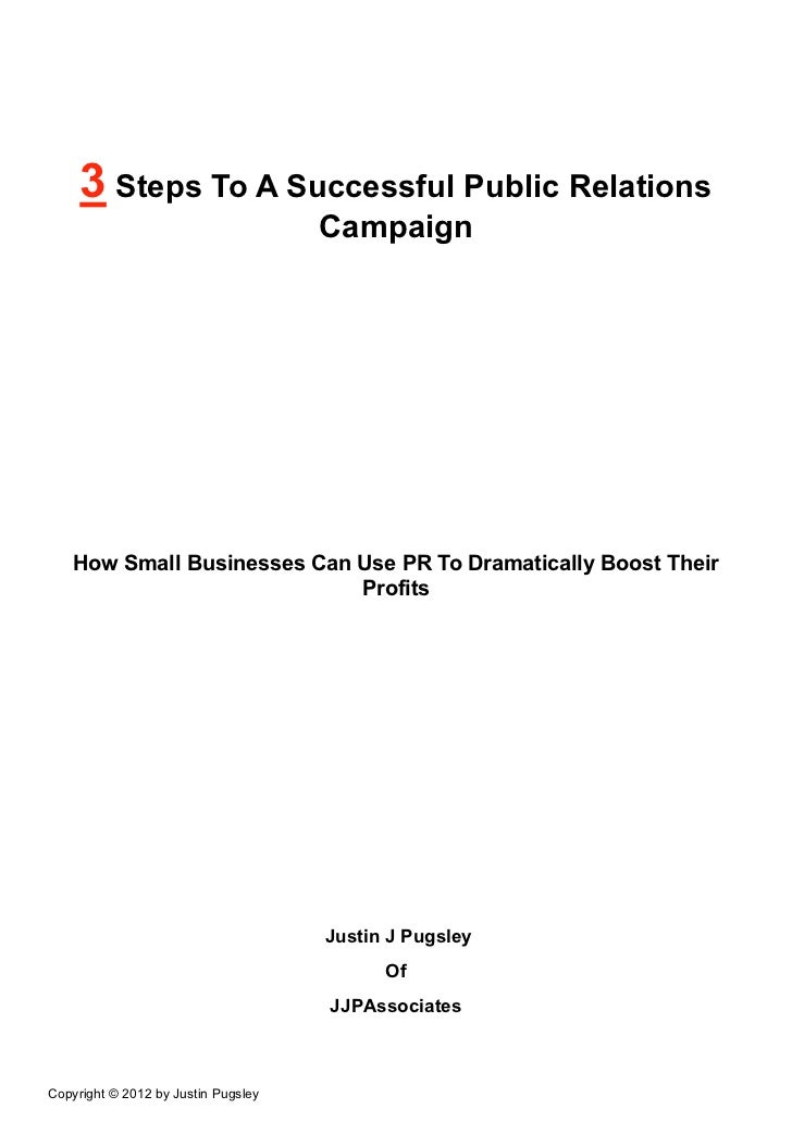 3 Steps To A Successful Public Relations                                     Campaign    How Small Businesses Can Use PR T...