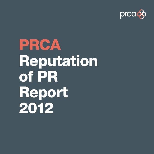 PRCAReputationof PRReport2012