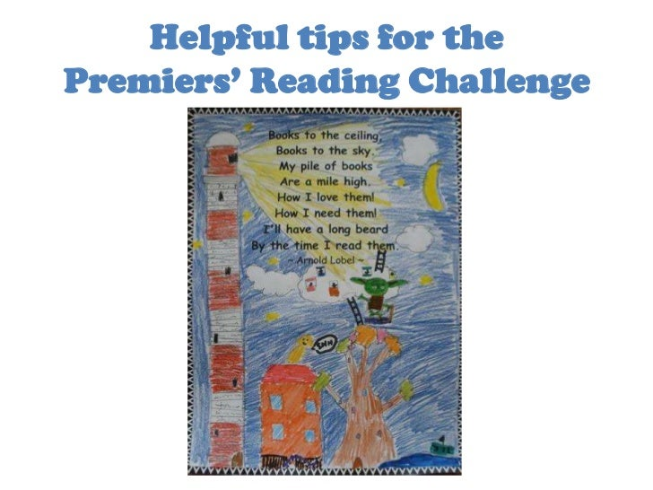 Helpful tips for the Premiers' Reading Challenge<br />