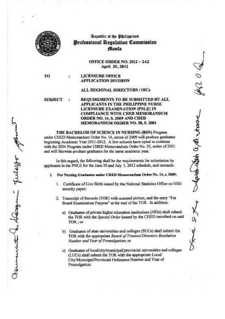 Prc office order no. 2012 142