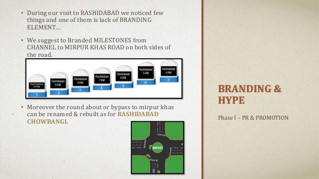 BRANDING & HYPE • During our visit to RASHIDABAD we noticed few things and one of them is lack of BRANDING ELEMENT… • We s...