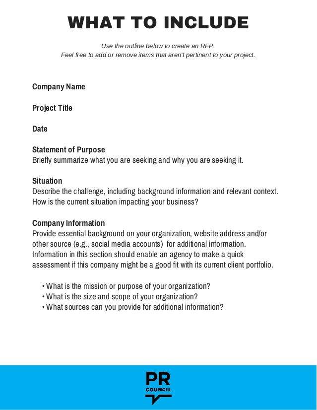 How to Build a Request for Proposal Slide 3