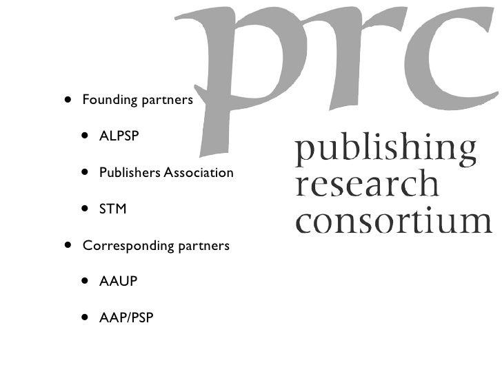 •   Founding partners      •   ALPSP      •   Publishers Association      •   STM  •   Corresponding partners      •   AAU...