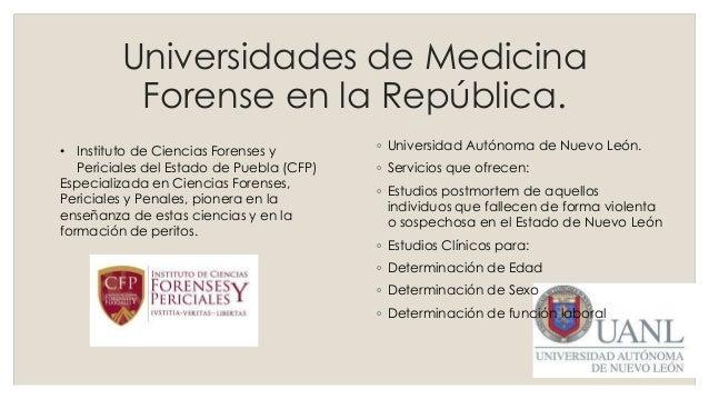 Pr ctica 01 carreras medicina forense for En que universidades hay arquitectura