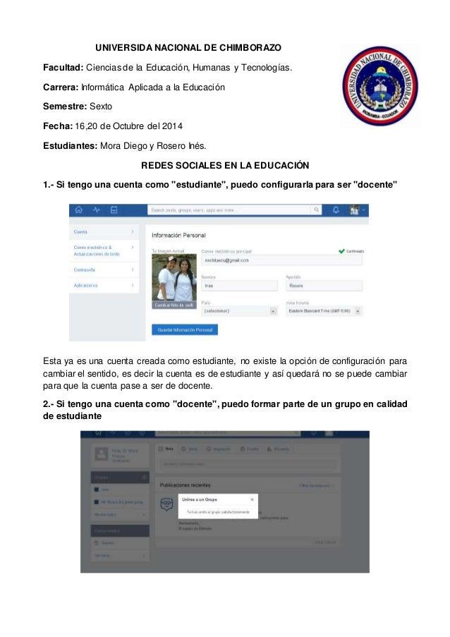 UNIVERSIDA NACIONAL DE CHIMBORAZO Facultad: Ciencias de la Educación, Humanas y Tecnologías. Carrera: Informática Aplicada...