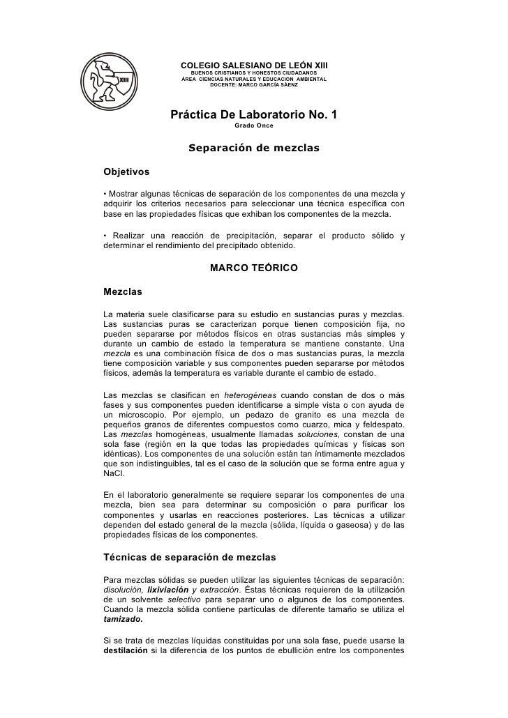 COLEGIO SALESIANO DE LEÓN XIII                        BUENOS CRISTIANOS Y HONESTOS CIUDADANOS                     ÁREA CIE...