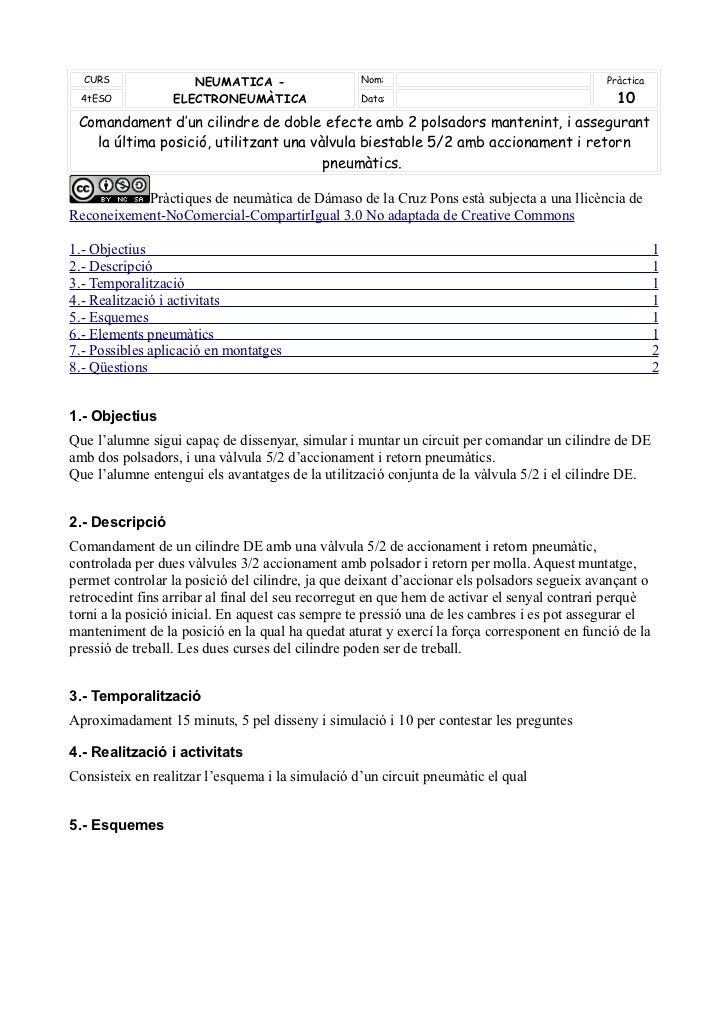 CURS              NEUMATICA -                   Nom:                                      Pràctica 4tESO           ELECTRO...