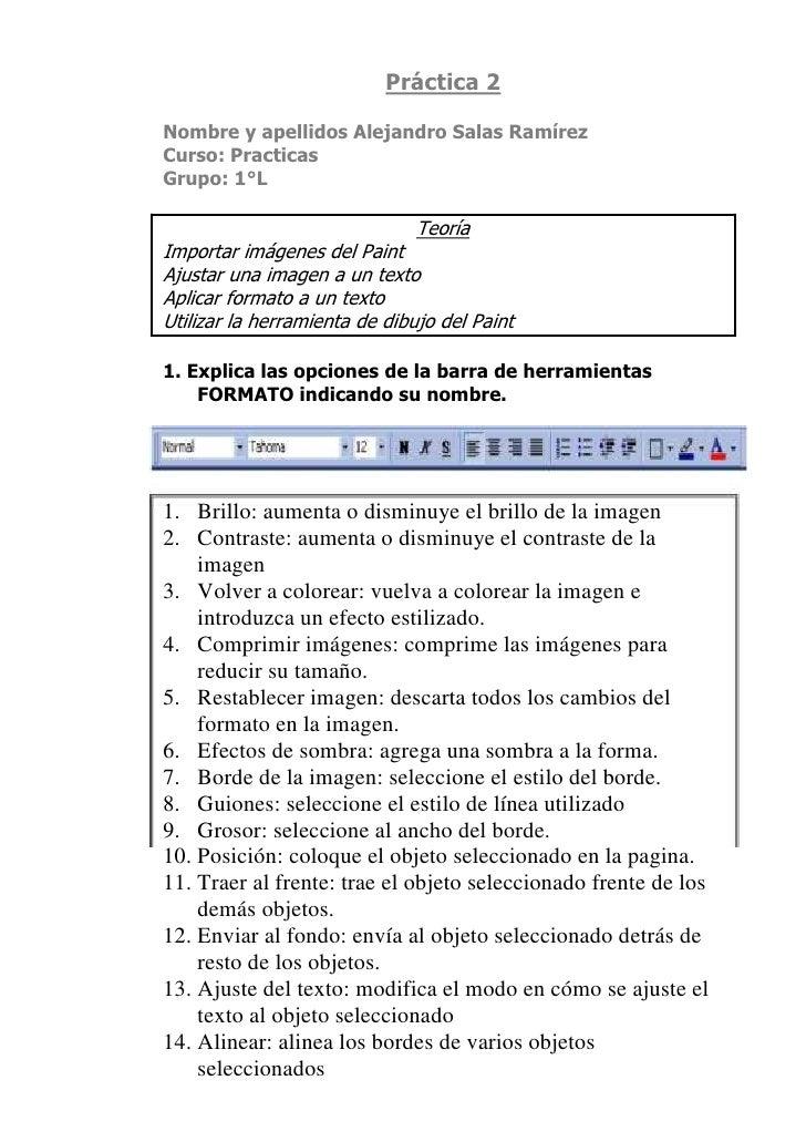 Práctica 2<br />Nombre y apellidos Alejandro Salas Ramírez<br />Curso: Practicas<br />Grupo: 1°L<br />Teoría<br />Importar...