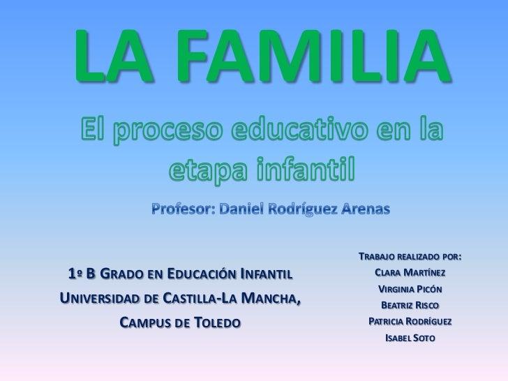 LA FAMILIA                                     TRABAJO REALIZADO POR: 1º B GRADO EN EDUCACIÓN INFANTIL       CLARA MARTÍNE...