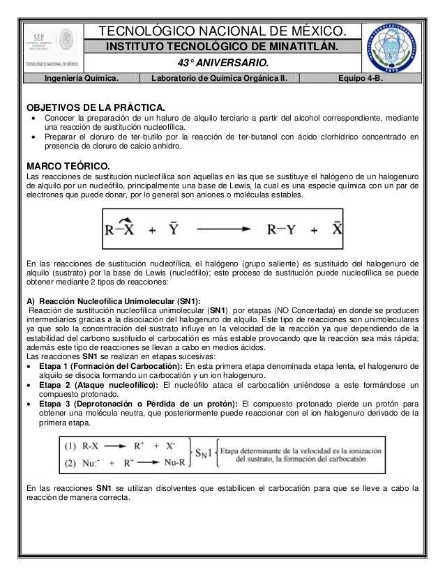 Reporte de Práctica-Síntesis y Propiedades del Cloruro de Terc-butilo.