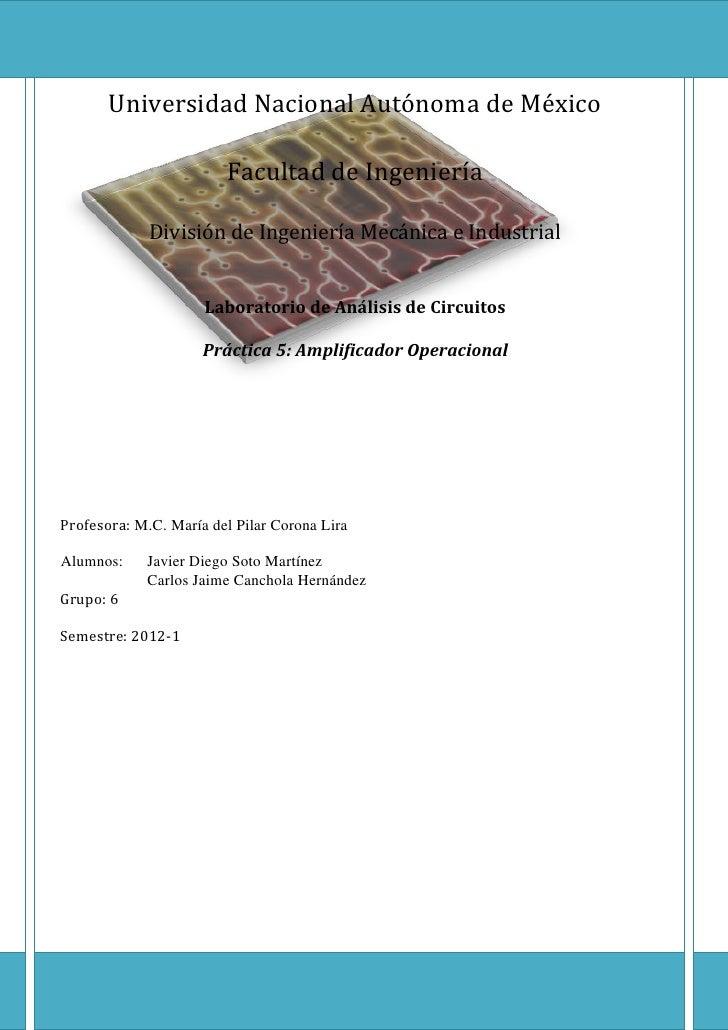 Universidad Nacional Autónoma de México<br />Facultad de Ingeniería<br />División de Ingeniería Mecánica e Industrial<br /...