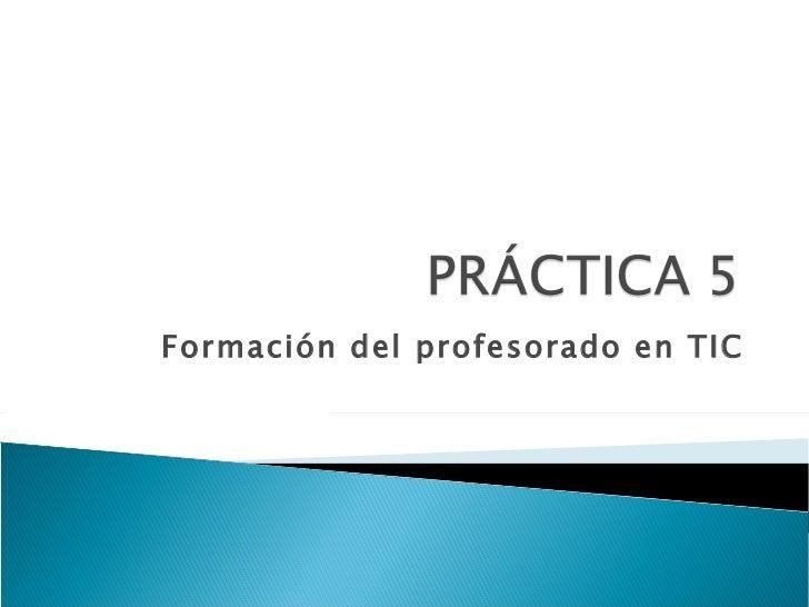 Formación del profesorado en TIC