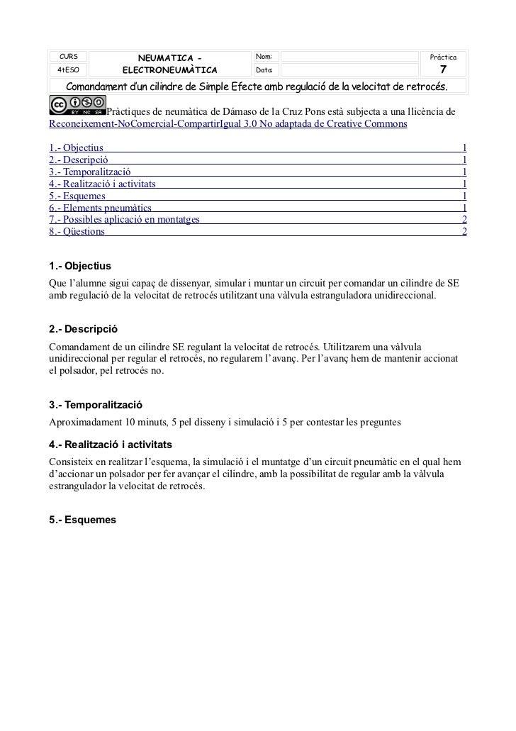 CURS              NEUMATICA -                  Nom:                                      Pràctica 4tESO           ELECTRON...