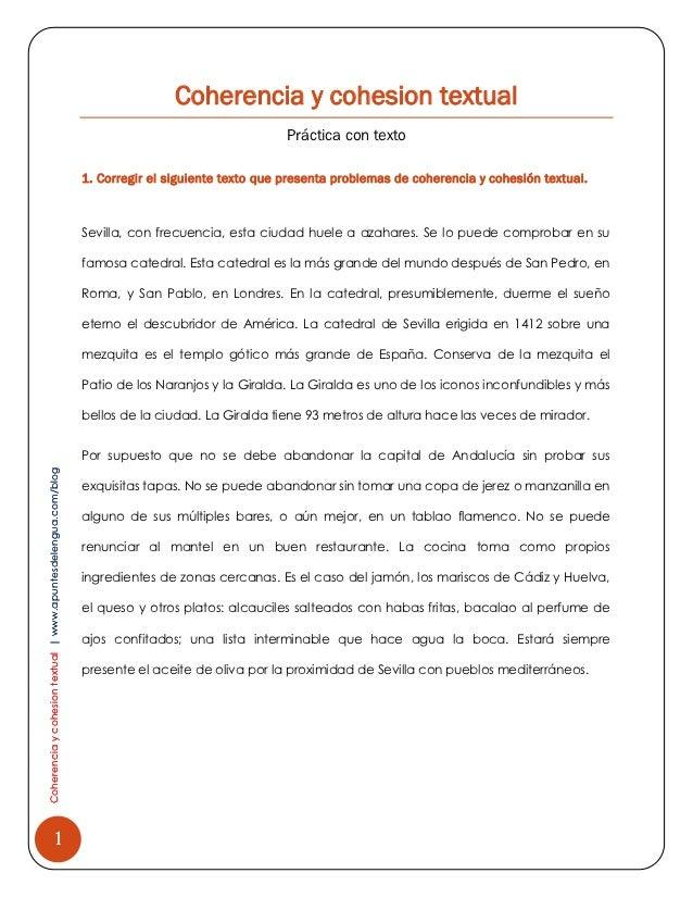 Coherencia y cohesion textual                                                                                             ...