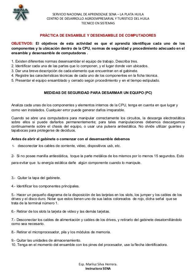 SERVICIO NACIONAL DE APRENDIZAJE SENA – LA PLATA HUILA  CENTRO DE DESARROLLO AGROEMPRESARIAL Y TURISTICO DEL HUILA  TECNIC...