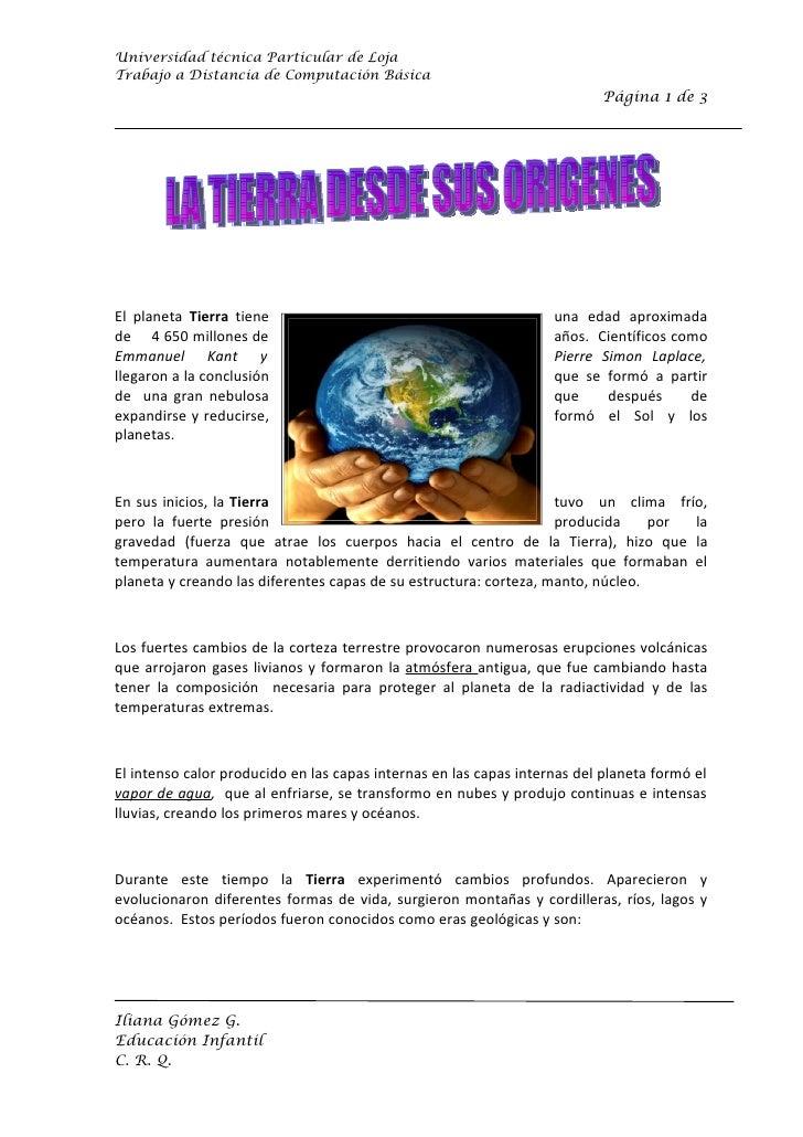 Universidad técnica Particular de Loja Trabajo a Distancia de Computación Básica                                          ...