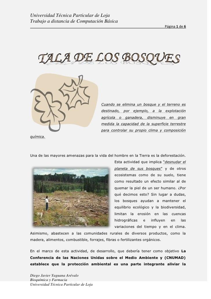 17217431<br />Cuando se elimina un bosque y el terreno es destinado, por ejemplo, a la explotación agrícola o ganadera, di...