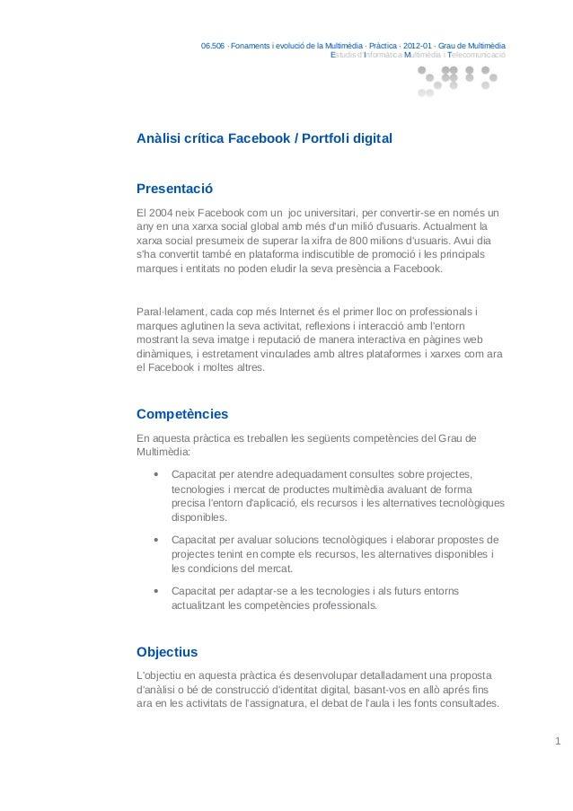 06.506 · Fonaments i evolució de la Multimèdia · Pràctica · 2012-01 · Grau de Multimèdia Estudis d'Informàtica Multimèdia ...