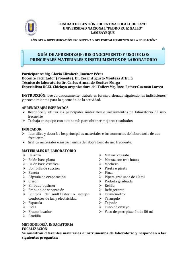 """""""UNIDAD DE GESTIÓN EDUCATIVA LOCAL CHICLAYO UNIVERSIDAD NACIONAL """"PEDRO RUIZ GALLO"""" LAMBAYEQUE AÑO DE LA DIVERSIFICACIÓN P..."""