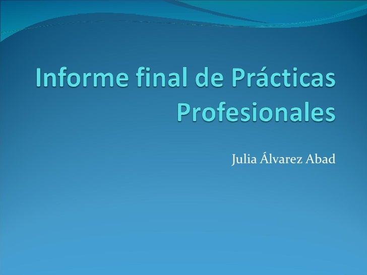 Julia Álvarez Abad