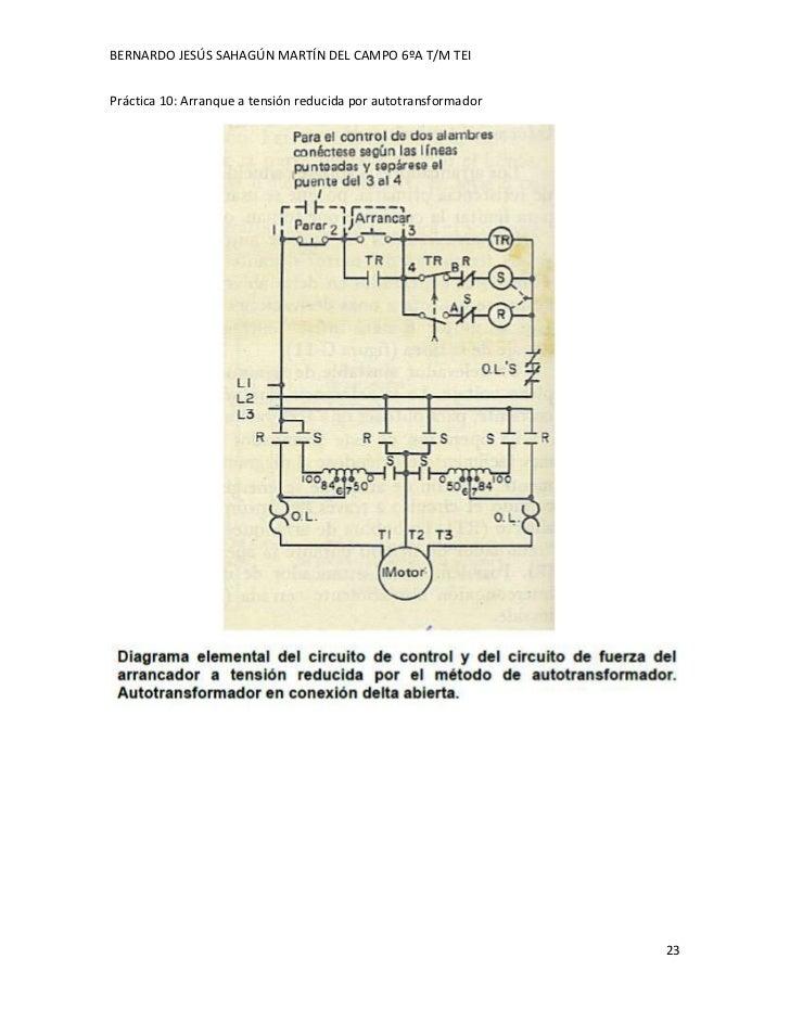 BERNARDO JESÚS SAHAGÚN MARTÍN DEL CAMPO 6ºA T/M TEIPráctica 10: Arranque a tensión reducida por autotransformador         ...