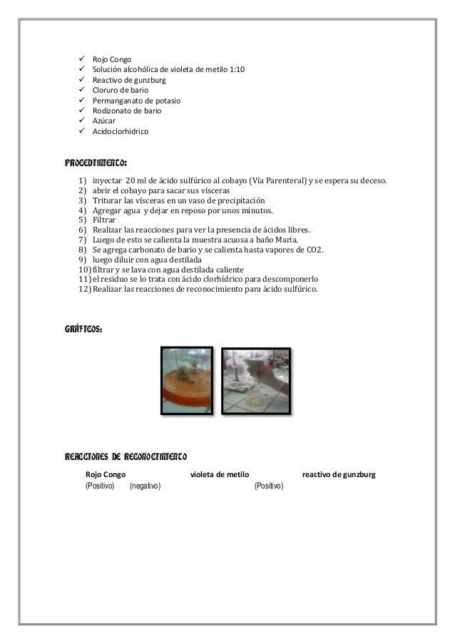          Rojo Congo Solución alcohólica de violeta de metilo 1:10 Reactivo de gunzburg Cloruro de bario Permangana...