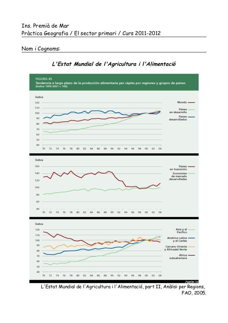 Ins. Premià de MarPràctica Geografia / El sector primari / Curs 2011-2012Nom i Cognoms:            LEstat Mundial de lAgri...