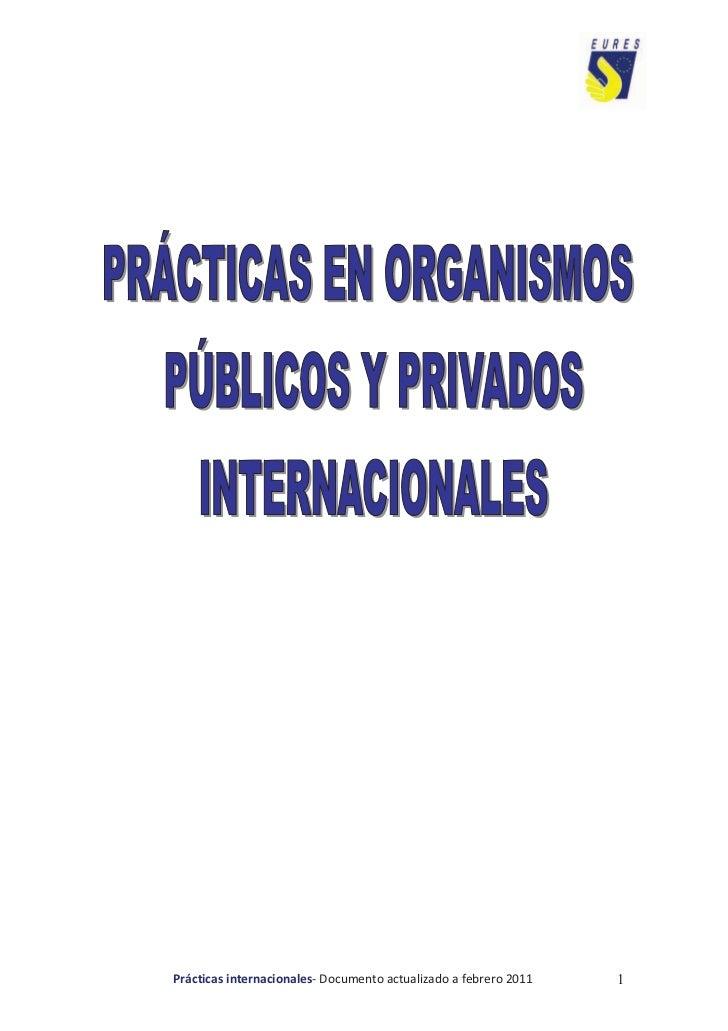 Prácticas internacionales- Documento actualizado a febrero 2011   1