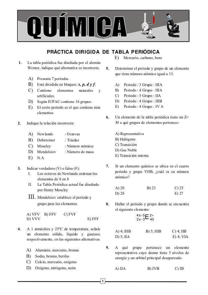 Prctica dirigida de tabla peridica urtaz Image collections