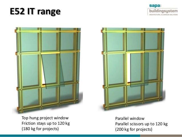Parallel Hung Windows : Elegance aluminium curtain walling system by sapa