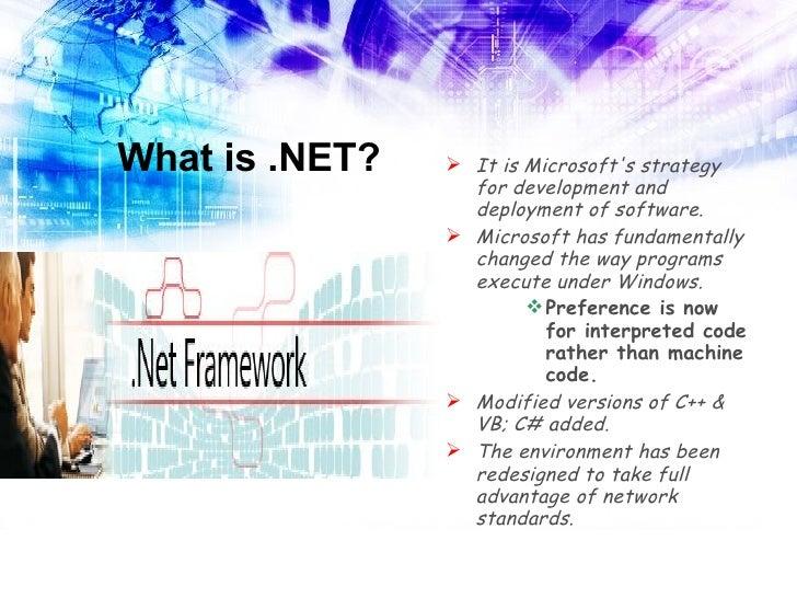 Microsoft dot net framework Slide 3