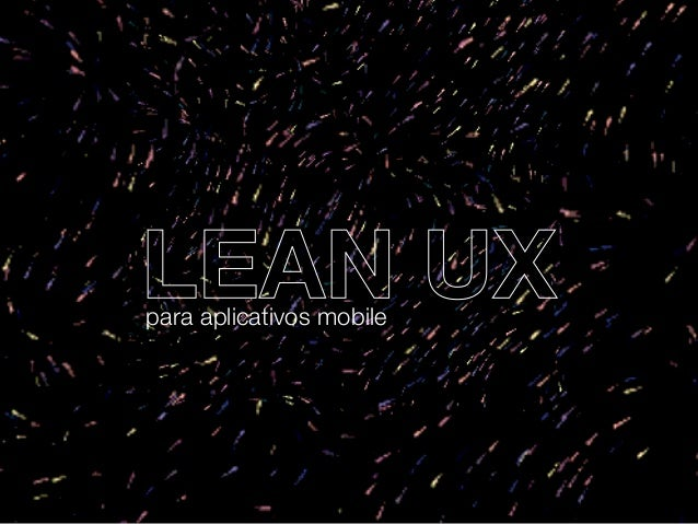 LEAN UXpara aplicativos mobile