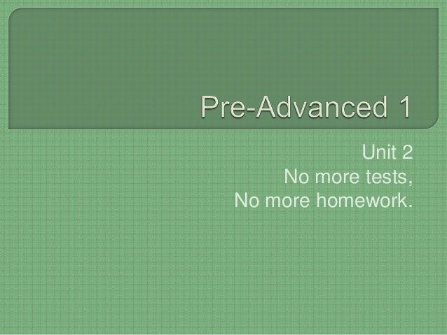 no more homework no more tests