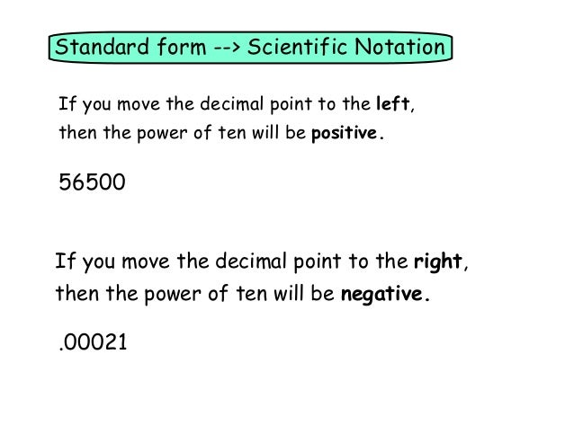 Pre-Alg 6.7 Scientific Notation
