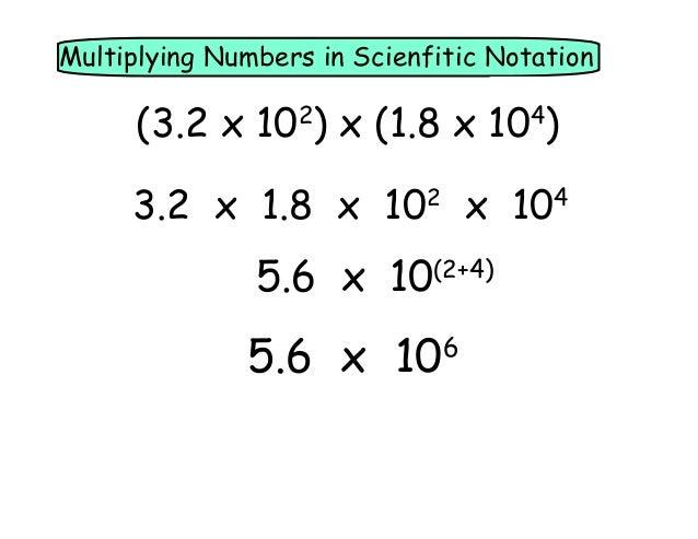 Pre-Alg 6.7 Scientific Notation