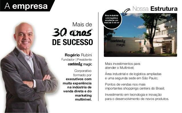 Nossa Estrutura Rogério Rubini Fundador | Presidente Corporativo formado por executivos com muita experiência na indústria...