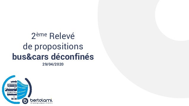 2ème Relevé de propositions bus&cars déconfinés 29/04/2020