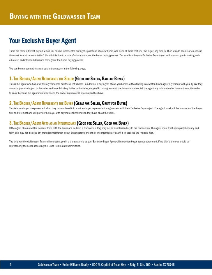 Exclusive Buyer Agency Agreement Choice Image Agreement Letter Format