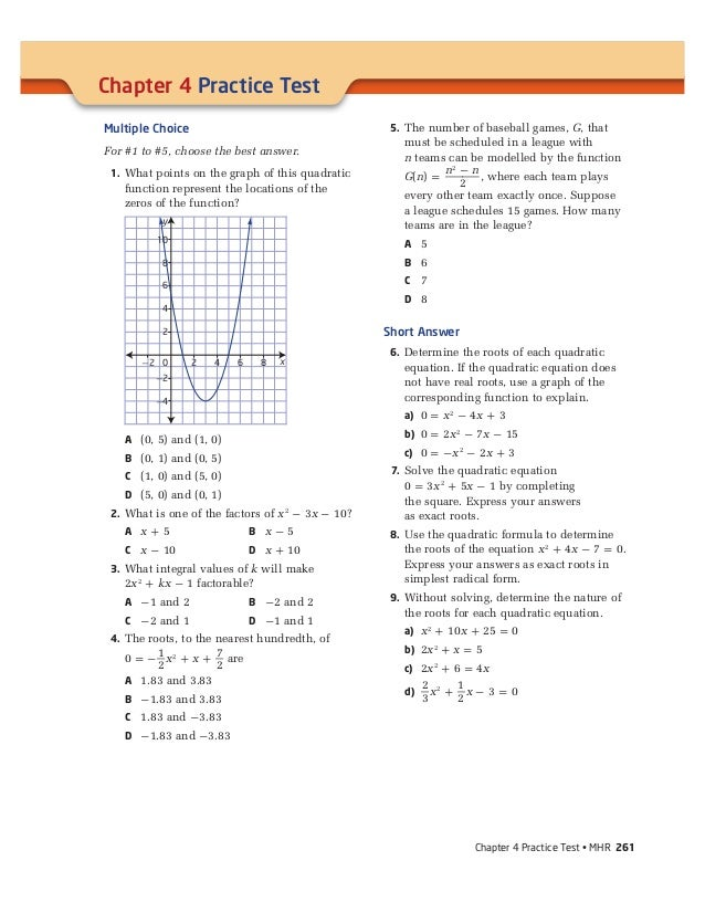 Free Sample Chapter Test