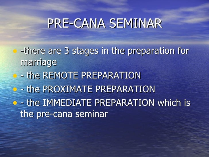 What does pre cana mean