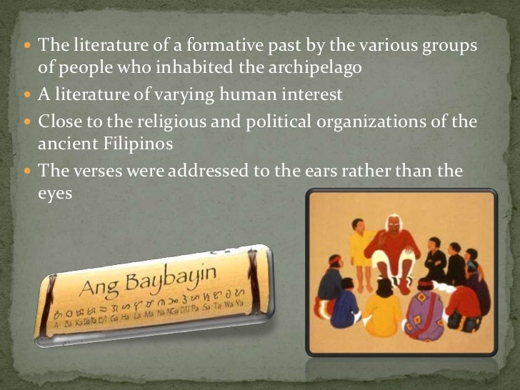philippine literature Introduction to the study of philippine literature© capital community.