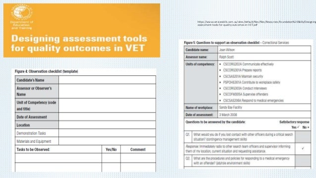 TAEASS502 – Design and Develop Assessment Tools