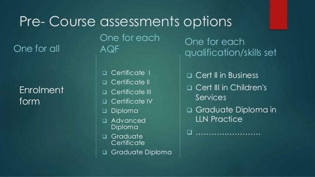 Pre course assessment- validation v2