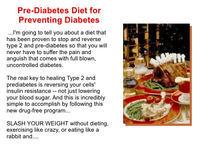 Pre Diabetes Diet For Preventing Diabetes