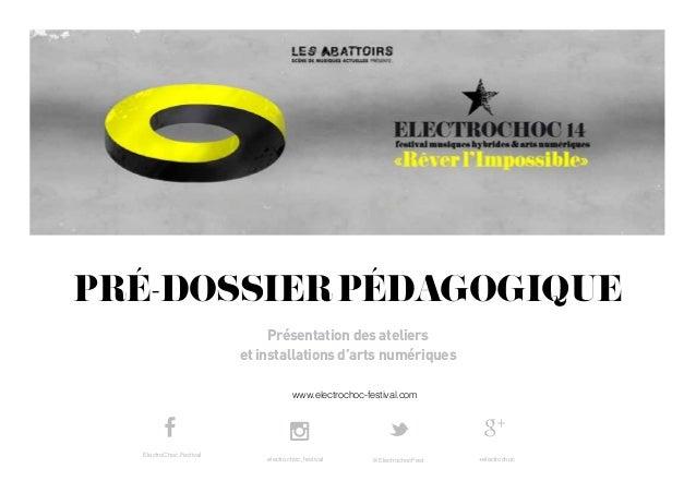 www.electrochoc-festival.com PRÉ-DOSSIERPÉDAGOGIQUE Présentation des ateliers et installations d'arts numériques electroch...