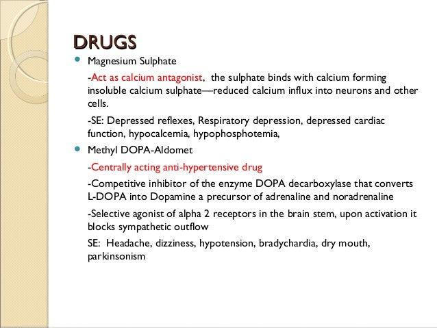 Pre eclampsia; eclampsia