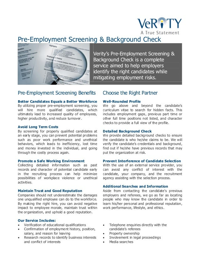 preemployment screening background check search